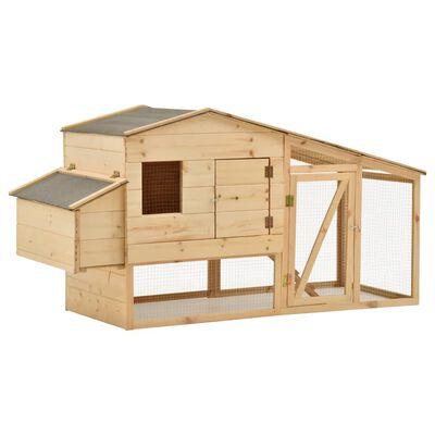 vidaXL Coteț pentru păsări, 178 x 67 x 92 cm, lemn masiv de pin
