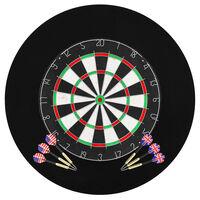 vidaXL Placă de darts profesională din sisal, cu 6 săgeți și bordură