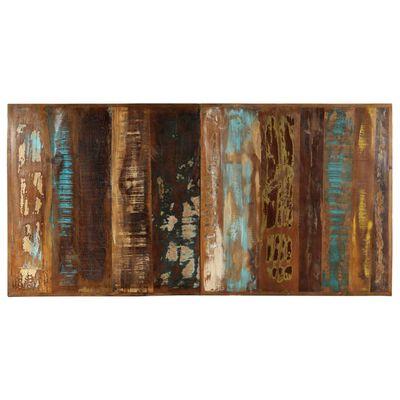 vidaXL Masă de bucătărie, 160 x 80 x 75 cm, lemn masiv reciclat