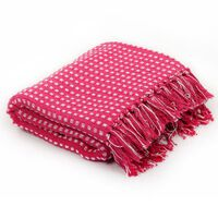 vidaXL Pătură decorativă cu pătrățele, bumbac, 160 x 210 cm, roz