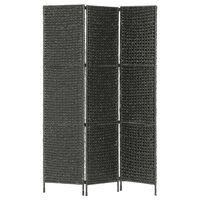 vidaXL Paravan cameră cu 3 panouri, negru, 116x160 cm, zambilă de apă