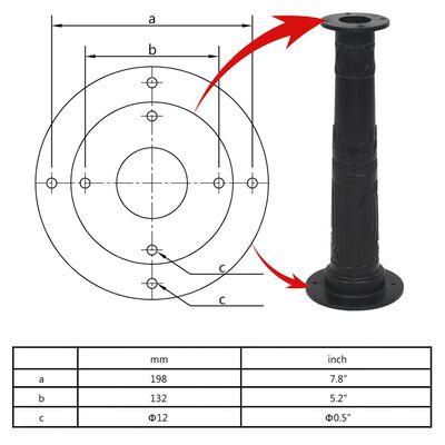 vidaXL Suport pentru pompă de apă manuală de grădină, fontă