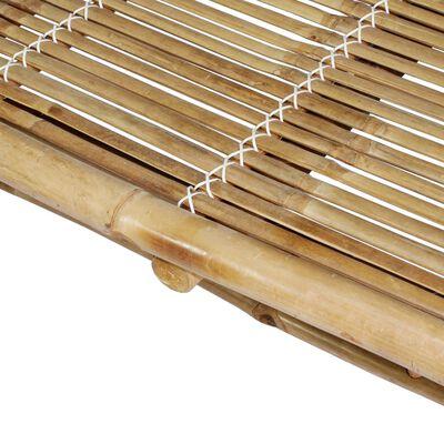 vidaXL Șezlong de 2 persoane, cu perne, bambus