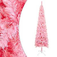 vidaXL Pom de Crăciun artificial subțire, roz, 240 cm