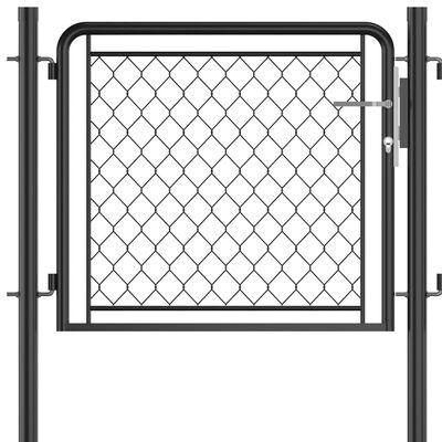vidaXL Poartă de grădină, antracit, 75 x 495 cm, oțel