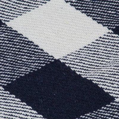 vidaXL Pătură decorativă, carouri, bleumarin, 125 x 150 cm, bumbac