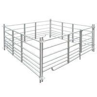 vidaXL Țarc pentru oi cu 4 panouri, oțel galvanizat, 183 x 183 x 92 cm