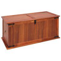 vidaXL Cufăr de depozitare, 79 x 34 x 32 cm, lemn masiv de salcâm