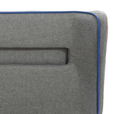 vidaXL Pat cu LED și saltea, gri deschis, 140 x 200 cm material textil