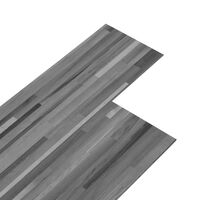 vidaXL Plăci de pardoseală autoadezive, gri dungi, 5,02 m², PVC, 2 mm