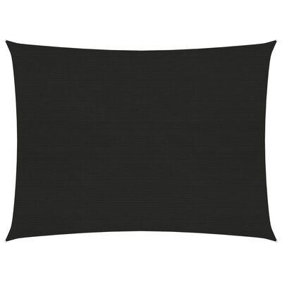 vidaXL Pânză parasolar, negru, 3x4 m, HDPE, 160 g/m²