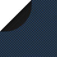 vidaXL Folie solară plutitoare piscină, negru/albastru, 381 cm, PE