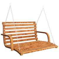 vidaXL Balansoar, 91x130x58 cm, lemn masiv molid cu finisaj de tec