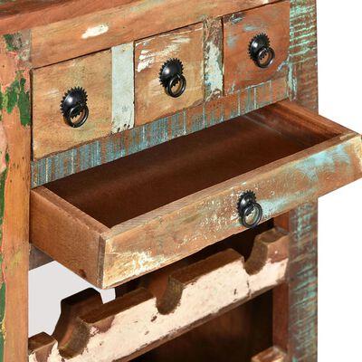 vidaXL Suport de vin pentru 9 sticle, lemn masiv reciclat