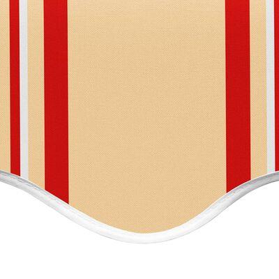 vidaXL Pânză de rezervă copertină, galben și portocaliu, 4x3,5 m