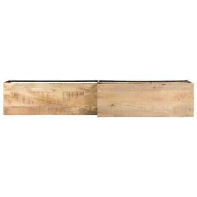 vidaXL Comodă TV, 180x30x50 cm, lemn de mango brut