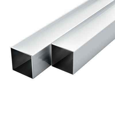 vidaXL Tuburi din aluminiu, secțiune pătrată, 6 buc, 30x30x2 mm, 2 m