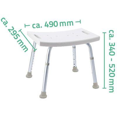 RIDDER Taburet pentru baie, alb, 100 kg A00601101