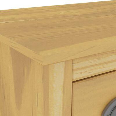 vidaXL Servantă Hill Range, 130 x 37 x 80 cm, lemn masiv de pin