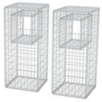 vidaXL Stâlpi coș gabion/jardiniere din oțel, 2 buc., 50 x 50 x 120 cm