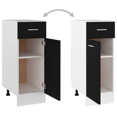 vidaXL Dulap inferior cu sertar, negru, 30 x 46 x 81,5 cm, PAL