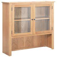 vidaXL Vitrină de birou, 110 x 33,5 x 105 cm, lemn masiv de stejar