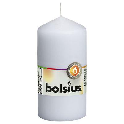 Bolsius Lumânări bloc, 10 buc., alb, 120 x 58 mm