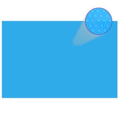 vidaXL Prelată de piscină, albastru, dreptunghiular, 600 x 400 cm, PE