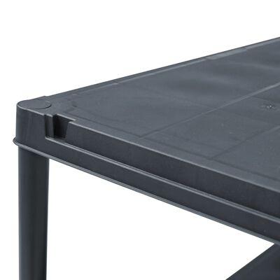 vidaXL Rafturi de depozitare, 5 buc. negru, 60 x 30 x 138 cm plastic