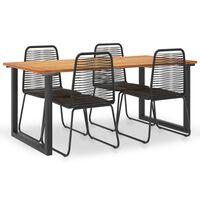 vidaXL Set mobilier de exterior 5 piese lemn masiv acacia și poliratan