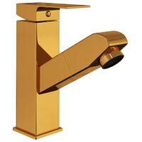 vidaXL Robinet chiuvetă de baie retractabil, auriu, 157x172 mm