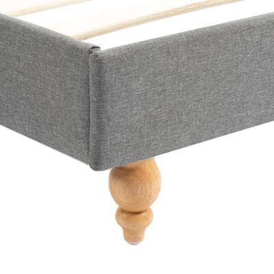 vidaXL Pat cu LED și saltea, gri deschis, 180x200 cm, material textil