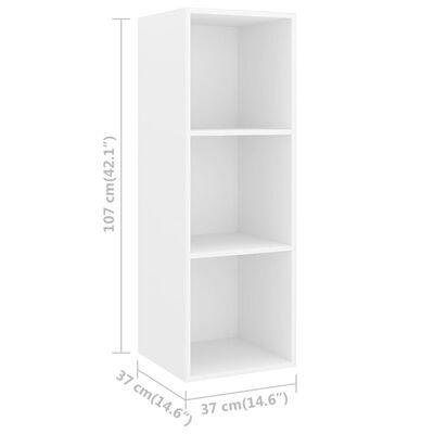 vidaXL Set de dulapuri TV, 5 piese, alb, PAL