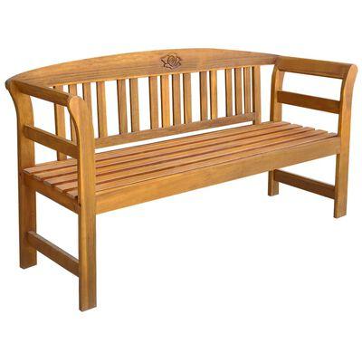 vidaXL Bancă de grădină cu pernă, 157 cm, lemn masiv de acacia
