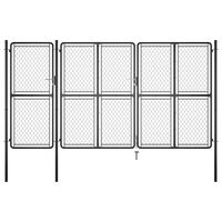 vidaXL Poartă de grădină, antracit, 175 x 395 cm, oțel