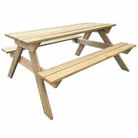 vidaXL Masă de picnic, 150 x 135 x 71,5 cm, lemn