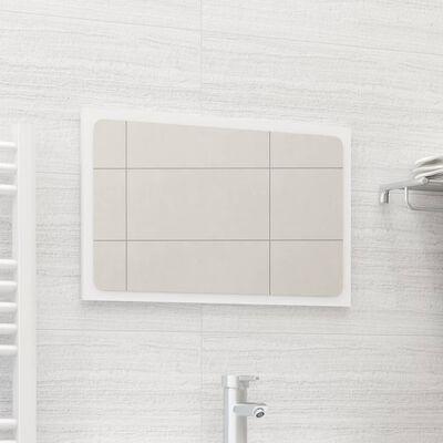 vidaXL Oglindă de baie, alb, 60x1,5x37 cm, PAL