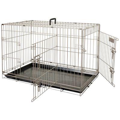 FLAMINGO Cușcă pentru animale de companie Ebo maro metalic 92x56x64 cm