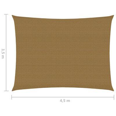 vidaXL Pânză parasolar, gri taupe, 3,5x4,5 m, HDPE, 160 g/m²