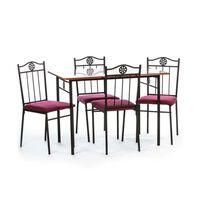 Unic Spot RO, Set masa Victory cires cu 4 scaune, 110x70x76cm