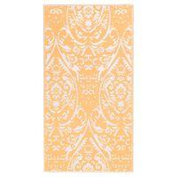 vidaXL Covor de exterior, portocaliu/alb, 190x290 cm, PP