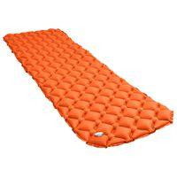 vidaXL Saltea gonflabilă, portocaliu, 58 x 190 cm