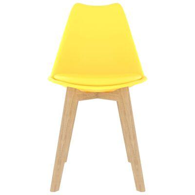 vidaXL Set de masă, 5 piese, galben