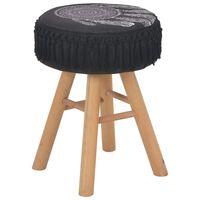 vidaXL Taburet, negru, material textil