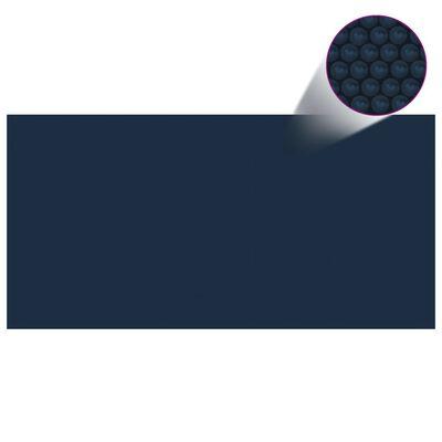 vidaXL Folie solară plutitoare piscină, negru/albastru, 1000x500 cm PE