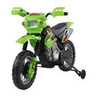 Moto Cross Electric Pentru Copii Cu Role,verde