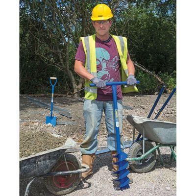 Draper Tools Burghiu groapă stâlp cu sfredel, albastru, 1070 x 155 mm