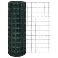 vidaXL Euro gard, verde, 25 x 1,2 m, oțel