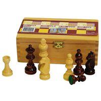 Abbey Game Piese de șah, negru / alb, 87 mm, 49CL