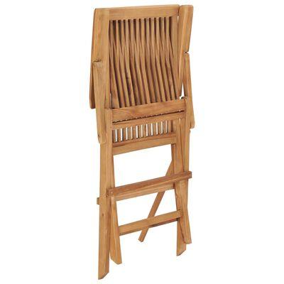vidaXL Scaune de grădină cu perne, 2 buc., bej, lemn masiv de tec